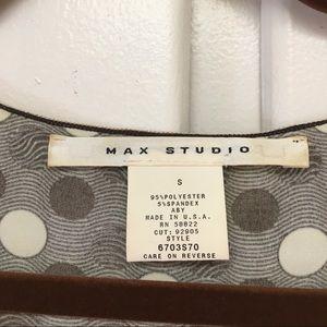 Max Studio Tops - Max Studio Cabbage Ruffle Polka Dot Blouse